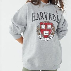 Harvard Mock Neck Pullover Sweatshirt
